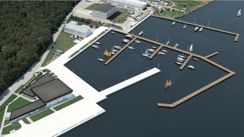Port jachtowy przy ul. Przełom w Górkach Zachodnich ma obecnie 60 miejsc postojowych, po przebudowie będzie ich ponad 180
