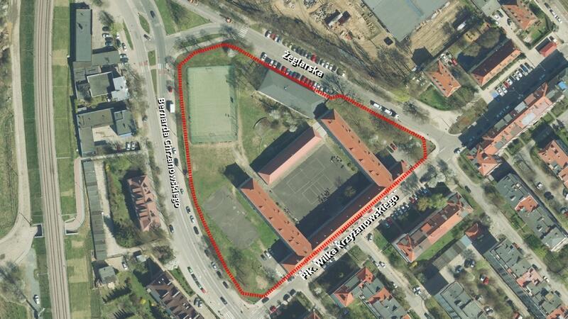 Granice projektu planu nr 0862 - Strzyża, rejon ulic Płk. Wilka-Krzyżanowskiego, Żeglarskiej i Bernarda Chrzanowskiego