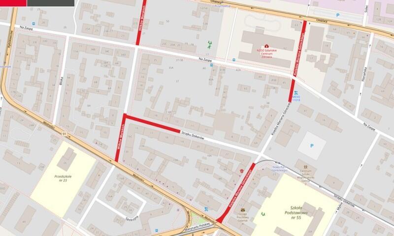 Zmiany w ruchu na zaznaczonych ulicach rozpoczną się już w środę, 15 września