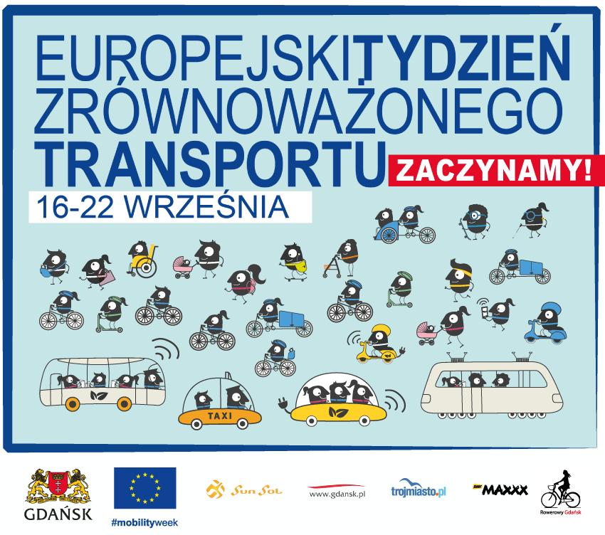 Grafika Europejski Tydzień Zrównoważonego Transportu