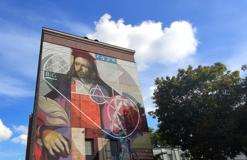 Mural Jana Heweliusza uświetnił jubileusz PAN Biblioteki Gdańskiej