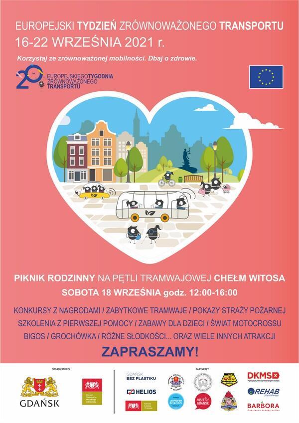 plakat Europejski Tydzień Zrównoważonego Transportu