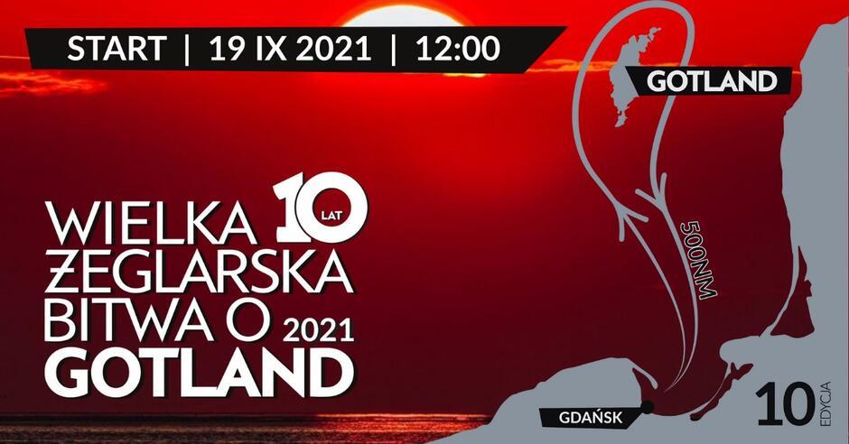 baner promujący Wielką Żeglarską Bitwe oGotland