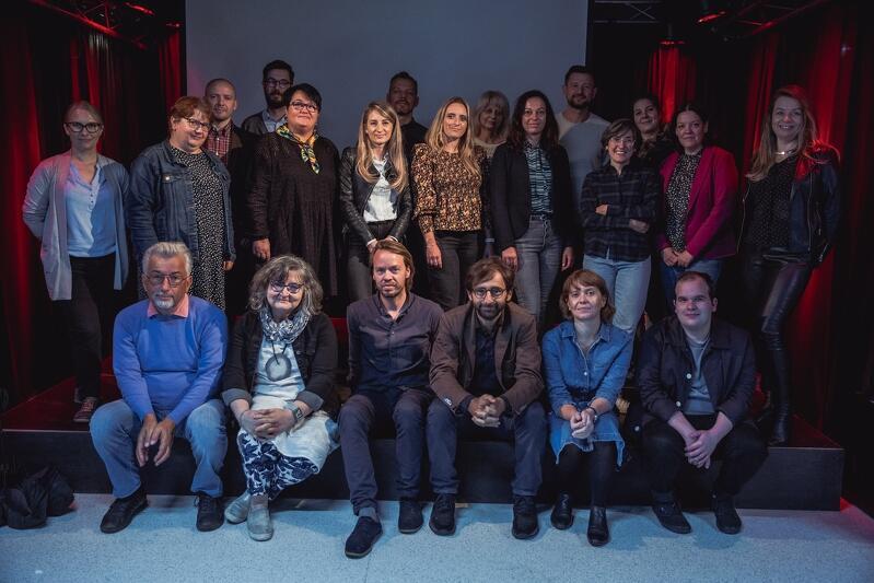 Uczestnicy wizyty studyjnej partnerów projektu CO4CITIES w Gdańsku, Scena Muzyczna GAK, 16 września 2021