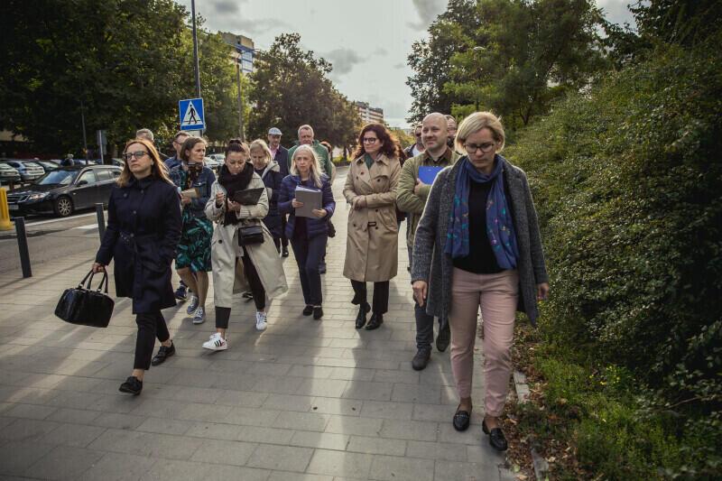 W poniedziałek, 20 września, odbył się kolejny spacer gospodarski po dzielnicy z udziałem prezydent Gdańska Aleksandry Dulkiewicz