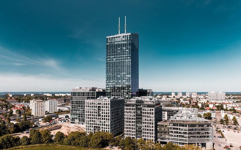 Olivia Centre, na pierwszym planie najwyższy biurowiec kompleksu Olivia Star