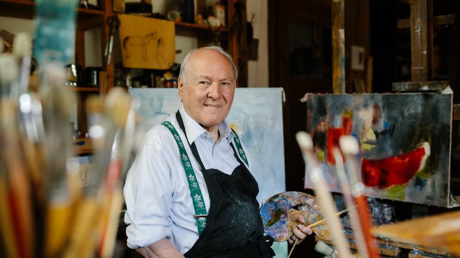 """Nicolaus HIPP to jeden z najbardziej cenionych współczesnych niemieckich abstrakcjonistów. Jego wystawa zatytułowana """"Świat Obrazów"""" otworzy Tydzień Niemiecki w Gdańskim Teatrze Szekspirowskim we wtorek, 28 września"""