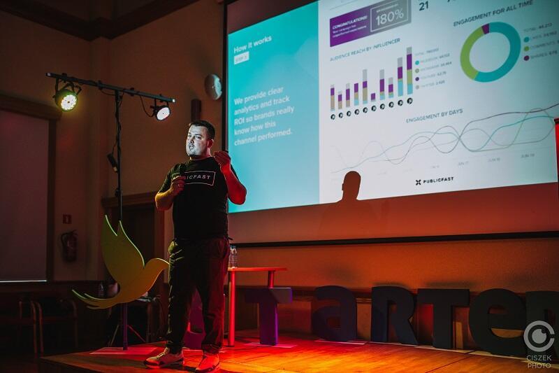 Zdjęcie wykonano podczas jednej z prezentacji uczestników I edycji programu akceleracyjnego Techseed Gdańskiego Inkubatora Przedsiębiorczości STARTER (rok 2020)