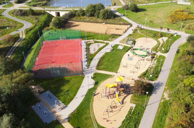 Zagospodarowany teren przy Zbiorniku Augustowska