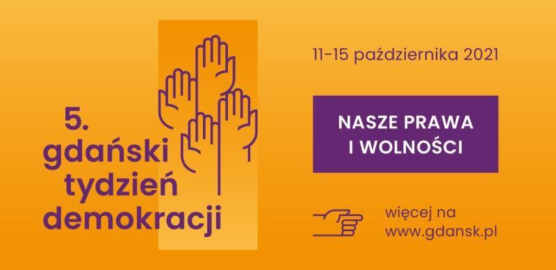 Baner 5. Gdańskiego Tygodnia Demokracji