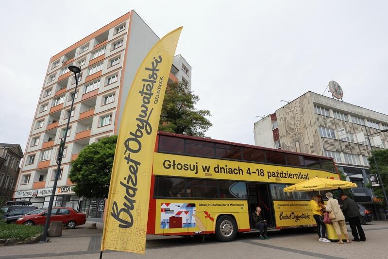 W tym roku głosowanie na projekty BO promuje m.in. charakterystyczny żółty autobus piętrowy