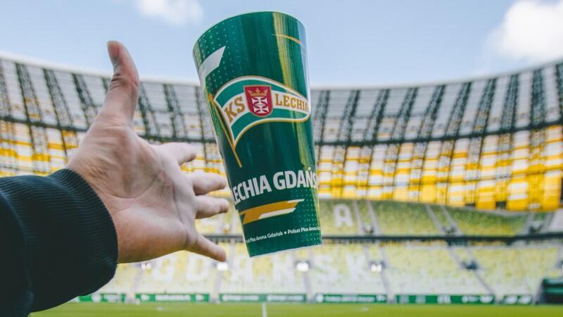 Tak wygląda meczowy kubek wielokrotnego użytku, którego meczowy debiut zaplanowano na 23 października, kiedy to Lechia zmierzy się w Gdańsku w starciu o ligowe punkty z Górnikiem Zabrze
