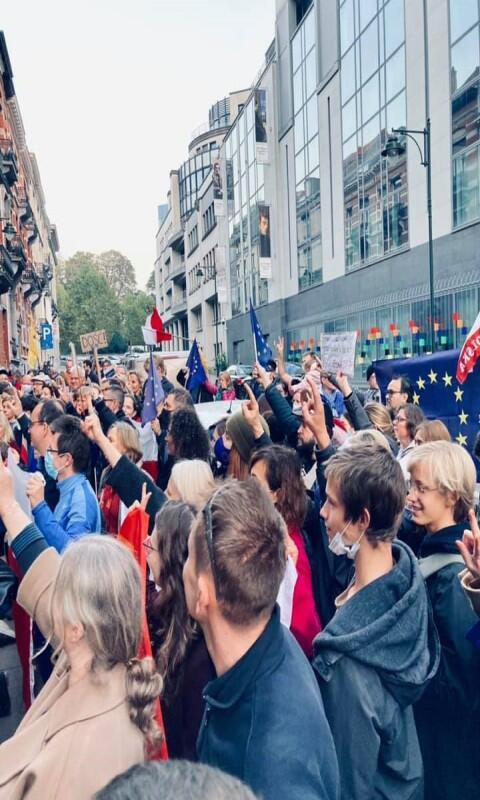 Protesty odbyły się także w niedzielę w stolicy Unii Europejskiej w Brukseli