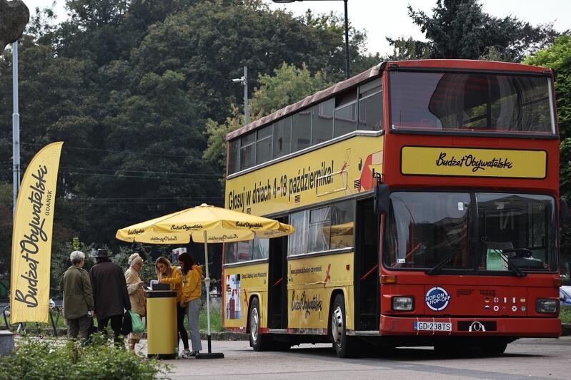 Na projekty Budżetu Obywatelskiego 2022 można głosować na stronie internetowej lub w Mobilnych Punktach Głosowania: w piętrowym autobusie oklejonym charakterystyczną żółtą grafiką lub w busie Gdańskiej Organizacji Turystycznej