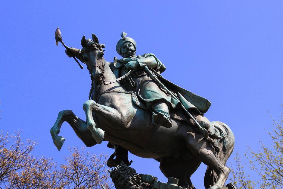 Pomnik Jana III Sobieskiego na Targu Drzewnym w Gdańsku