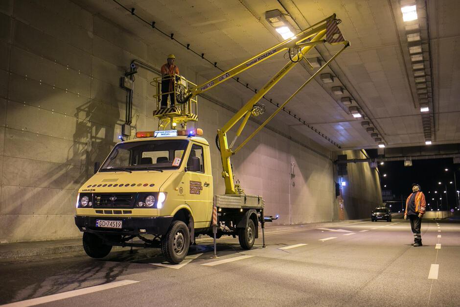 W Tunelu pod Martwą Wisłą odbywają się prace serwisowe