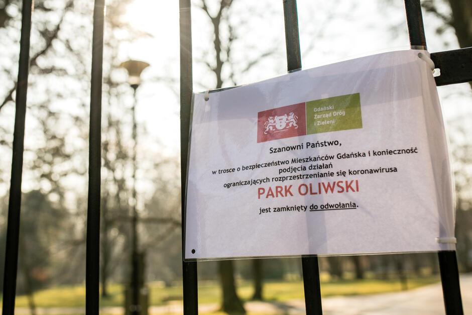 Zamknięty Park Oliwski
