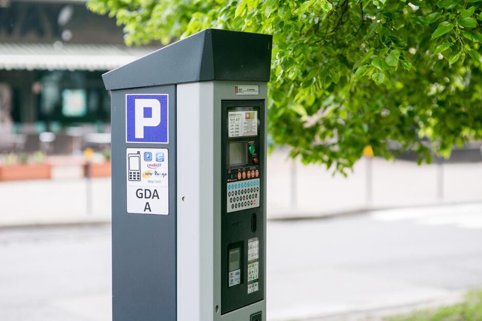 Parkometr w Strefie Płatnego Parkowania w Gdańsku