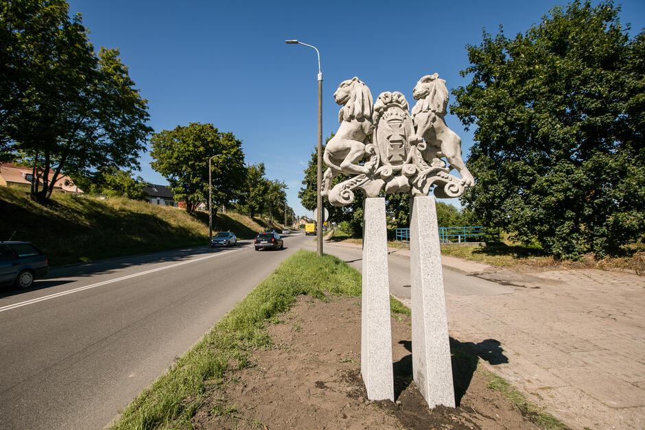 Witacz z herbem Gdańska