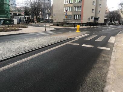 Przebudowa skrzyżowań ulic Wałowej i Aksamitnej oraz Gazowniczej, Łagiewniki i Doki na finiszu