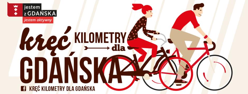 Plakat gry Rowerem do szkoły i pracy - Kręć kilometry dla Gdańska  2020.