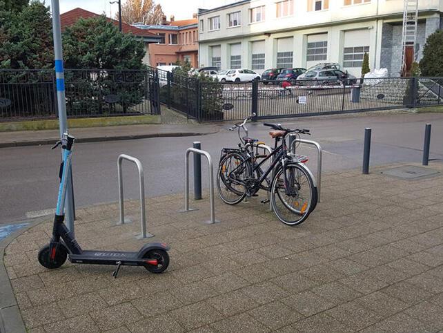 nowe stojaki rowerowe w Gdańsku