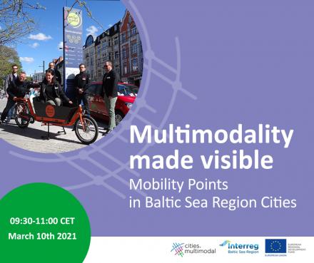 Multimodalność widoczna – Punkty mobilności w miastach regionu Morza Bałtyckiego