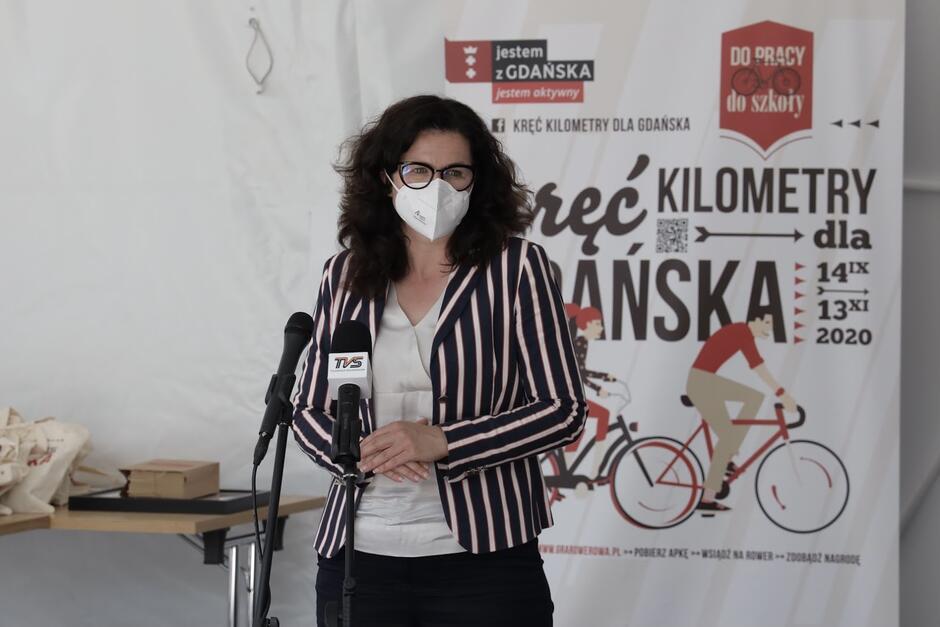 Prezydent Dulkiewicz na podsumowaniu kampanii Kręć kilometry dla Gdańska 2020
