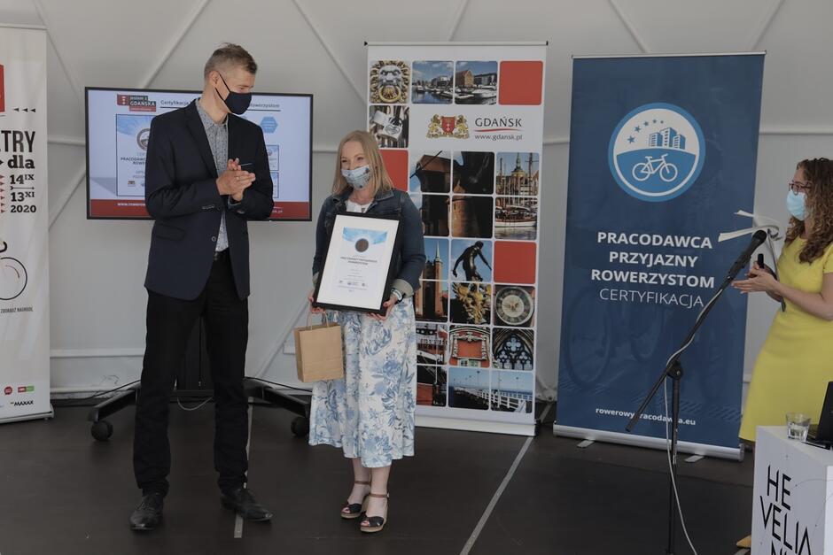 Nagrodzona Certyfikatem Pracodawcy Przyjaznego Rowerzystom firma SATEL Sp. z o.o.