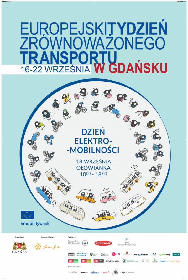 Plakat promujący Dzień Elektromobilności 2021 r.