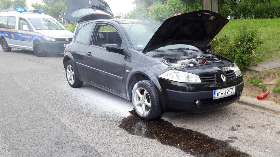 Pożar auta Piecki