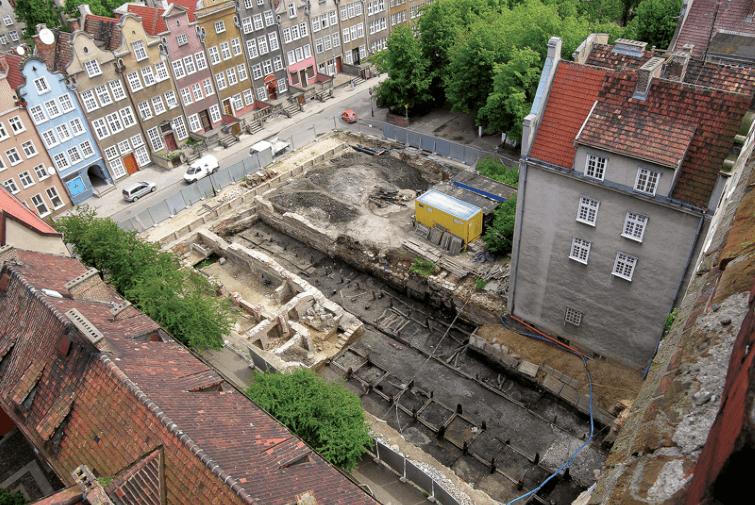Archäologische Arbeitsplätze bei Fleischbänke am Heiligen Geist Straße