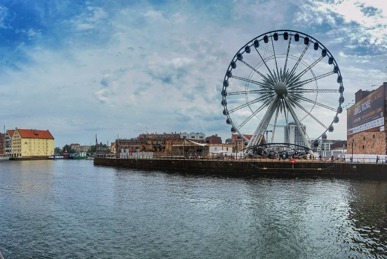 Gdansk Panorama goes round and round
