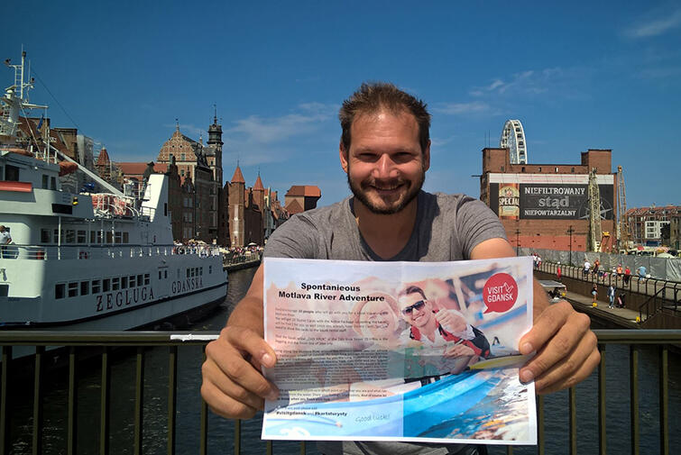 5 days, 5 challenges, 1 man! Bjorn Troch getting to know Gdansk!