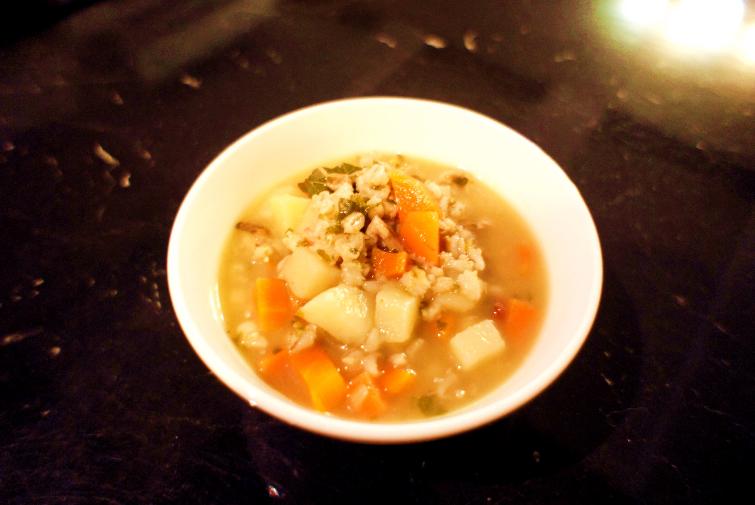 A warming barley soup