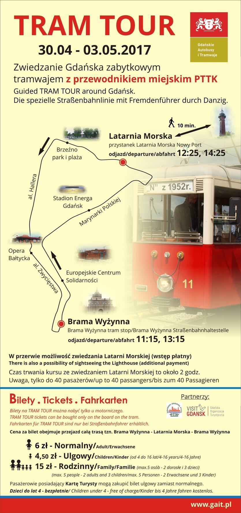 Tram Tour Route
