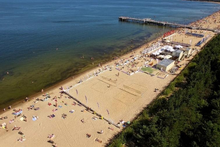 Brzeźno beach