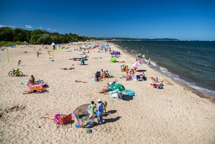 Beach in Gdansk Brzezno