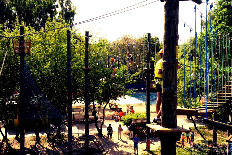 the Port Brzezno Rope Park