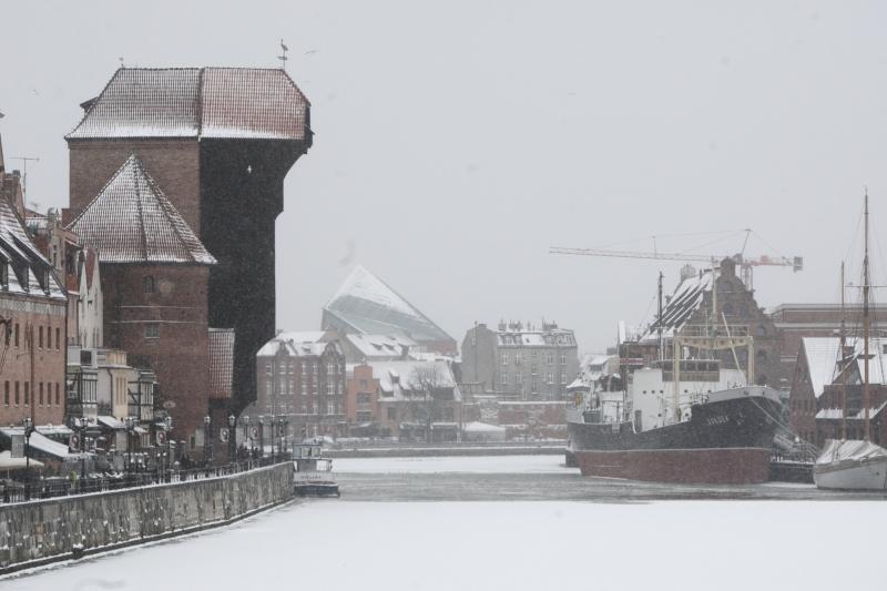 Gdansk in winter scenery