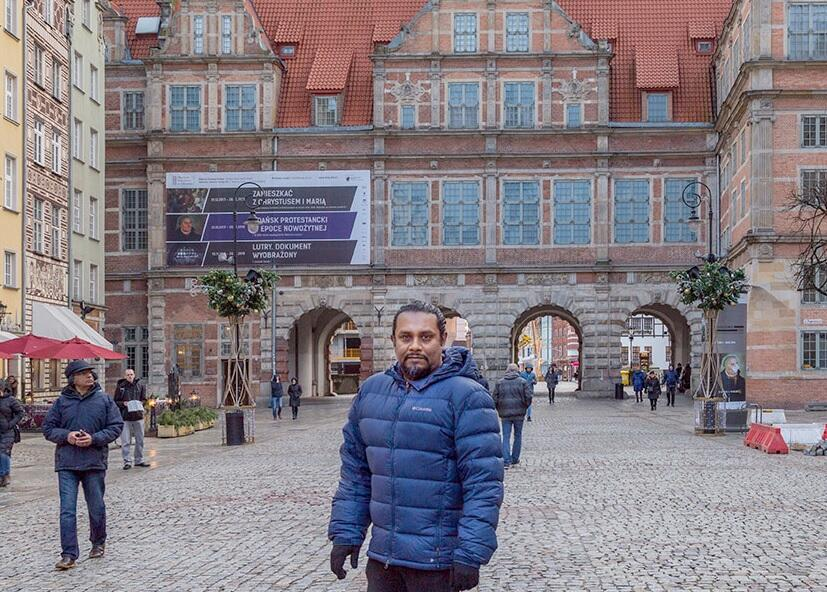 Guests from India exploring Gdansk