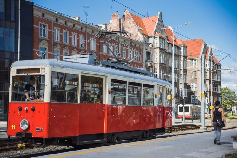 See Gdansk from the windows of a historic tram