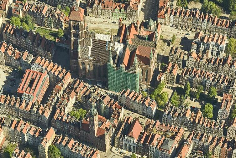A bird's eye view of Gdansk