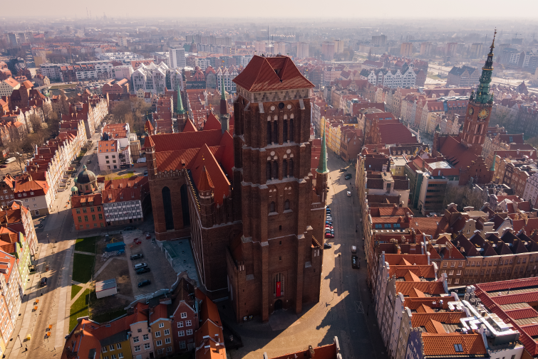 Beautiful Gothic Architecture in Gdansk