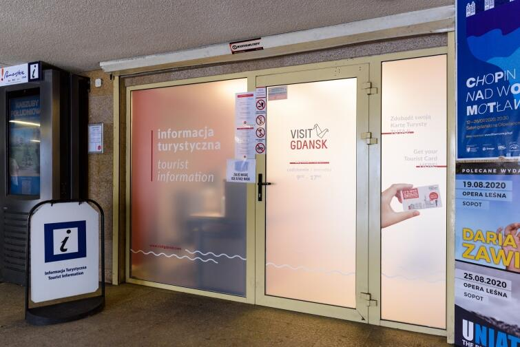 Tourist Information Point in the Railway Station tunnel