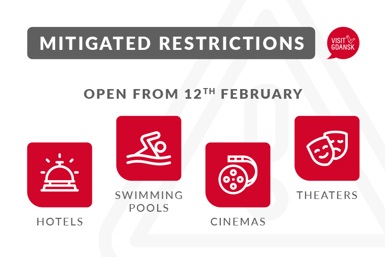 Less restrictions from 12th February