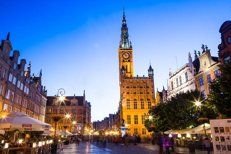 Music from the towers of Gdansk