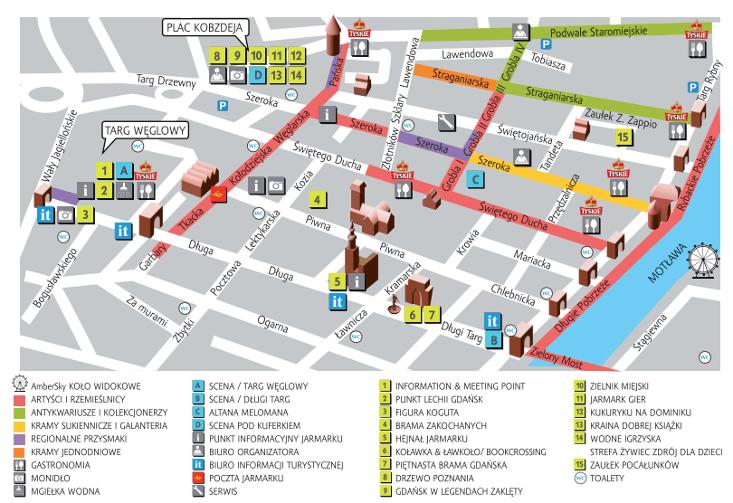 Mapa Jarmarku św. Dominika