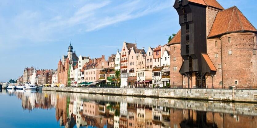 Gdańsk- widok na Długie Pobrzeże