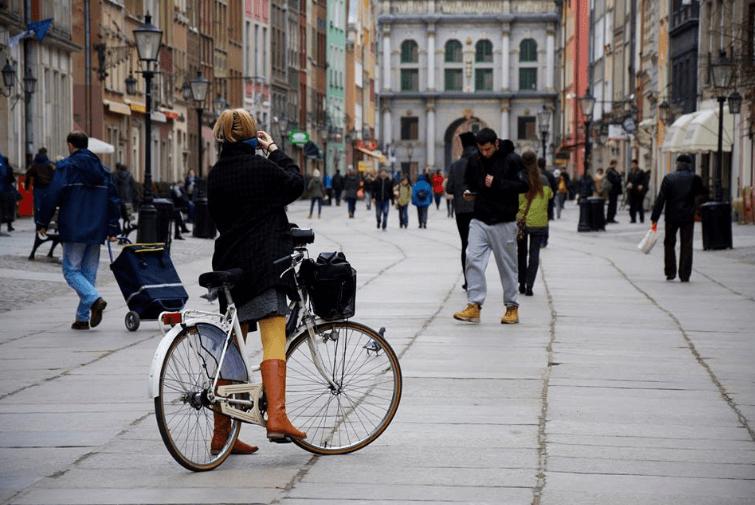 Rowerem przez Gdańsk